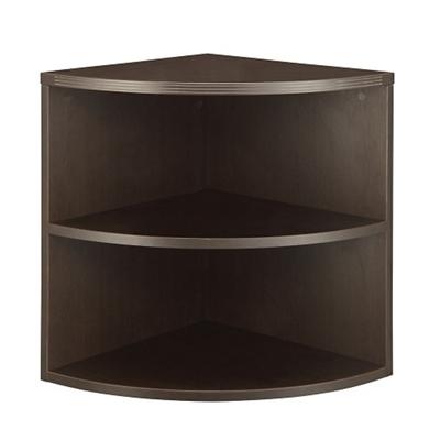 "Two Shelf Quarter-Round Bookcase - 23.5""W"