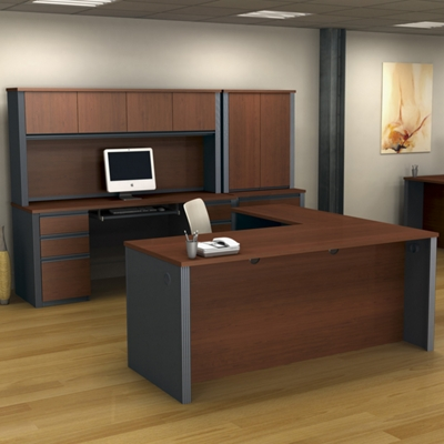 L-Shaped Desk Executive Office Set