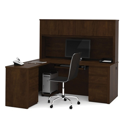 reversible lshaped desk with hutch and more lifetime guarantee