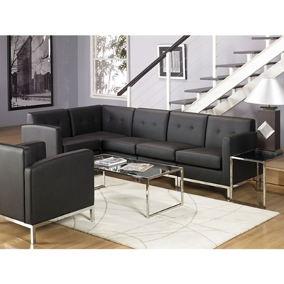 Faux Leather L-Shaped Sofa by Office Star | NBF.com
