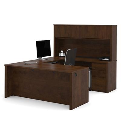 u shaped desk shop wrap around desk with desk hutch nbf com rh nationalbusinessfurniture com wrap around desk ikea wrap around office desk
