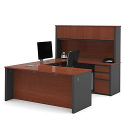 U-Shaped Desk with Hutch