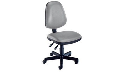 Armless Mobile Task Chair in Vinyl Upholstery