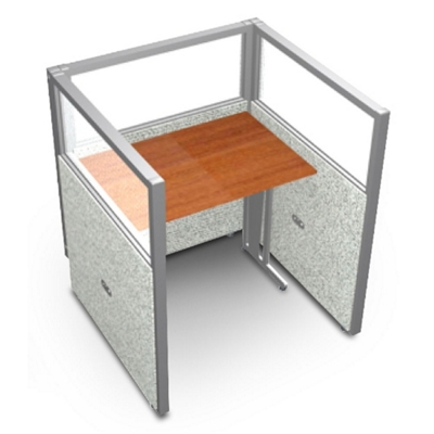 """Single Workstation with Clear Top - 37""""W x 47""""H"""