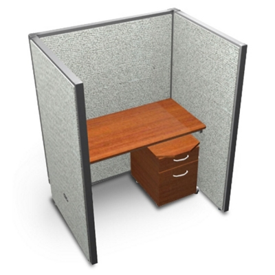 "Single Vinyl Workstation and Mobile File - 48""W x 63""H"