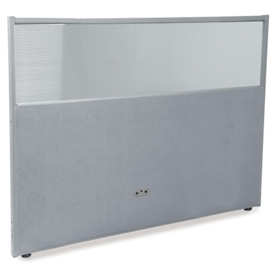 """60""""W x 47""""H Vinyl Partition with Clear Top"""