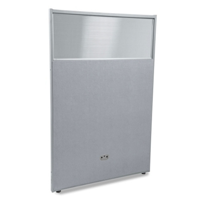 "31""W x 63""H Vinyl Partition with Clear Top"