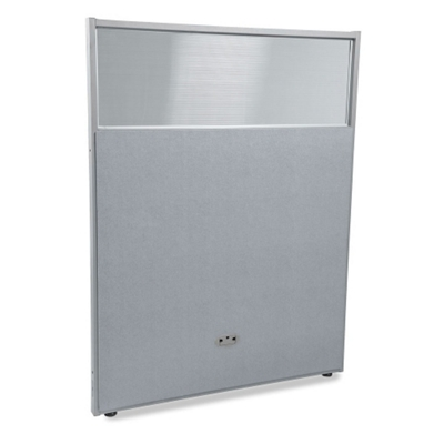 """48""""W x 63""""H Vinyl Partition with Clear Top"""