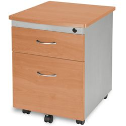 Mobile Two-Drawer Pedestal