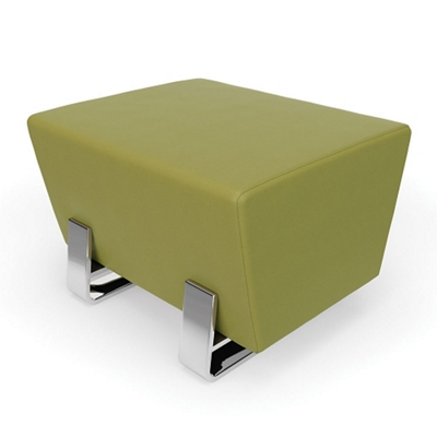 "Single Vinyl Bench with Chrome Legs - 26""W"