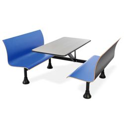 "Retro Bench with 48"" x 30"" Stainless Steel Table Top"