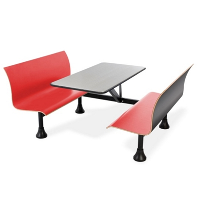 """Retro Bench with 48"""" x 24"""" Stainless Steel Table Top"""