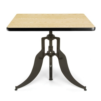 """Modern Adjustable Height Square Table - 36""""W"""