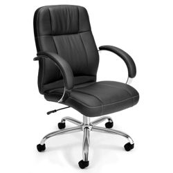 Mid-Back Leatherette Conference Chair