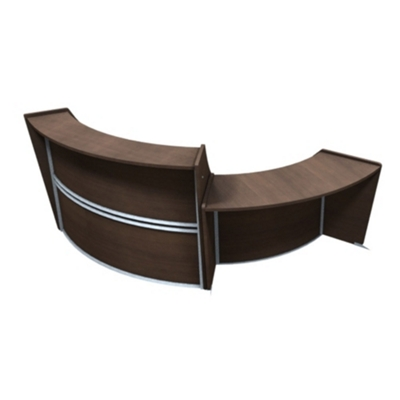 "Marque Two Piece ADA Reception Station - 116""W x 49""D"