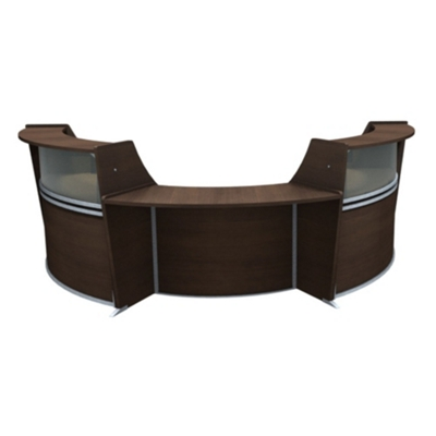 "Marque Three Piece ADA Reception Set with Plexi - 134.312""W x 71""D"
