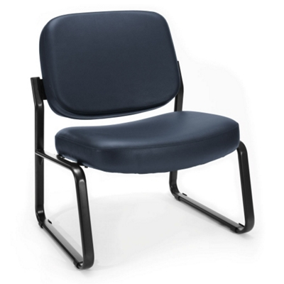 Big and Tall Armless Vinyl Guest Chair
