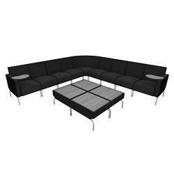 Modular Corner Lounge Chair Set