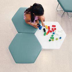 Hexagonal Seating & Tables - Three Piece Set