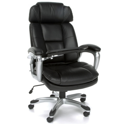 Tablet Arm Bonded Leather Chair with Headrest