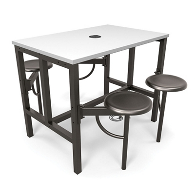 Standing Height Table with Four Swivel Seats