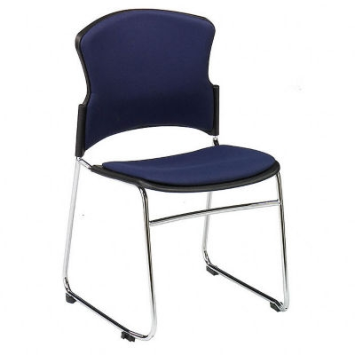 Armless Fabric Stack Chair