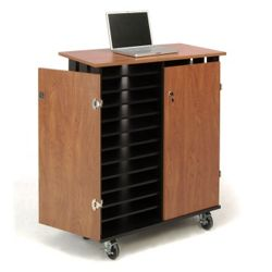 "Charging 24 Slot Laptop Cart- 44""H"