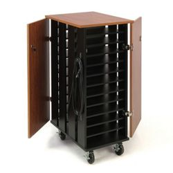 "Mobile Charging 24 Slot Laptop Storage Cart- 44""H"