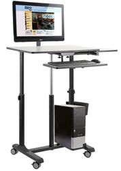 Mobile Sit & Stand Cart with Monitor Arm
