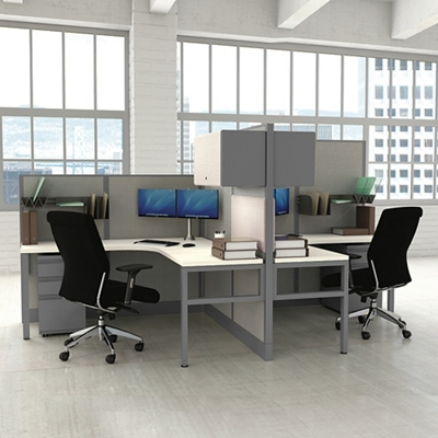Corben Two Desk Pack with P Legs