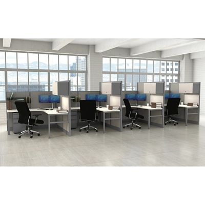 Corben Four Desk Pack with P legs