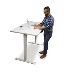 "Adjustable Height Table Desk 48""W x 30""D"