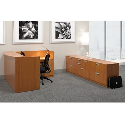 Reception L-Desk with Storage