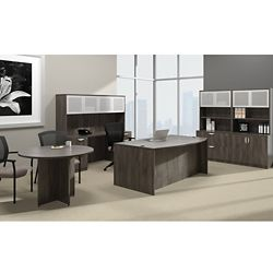 Bow Front Desk Suite with Conference Table