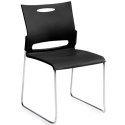 Armless Plastic Stack Chair