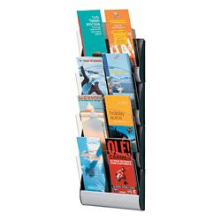 "Eight Slot Brochure Wall Rack - 9""W"