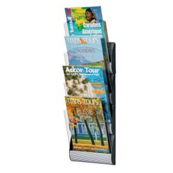 "Four Pocket Magazine Wall Rack - 9""W"