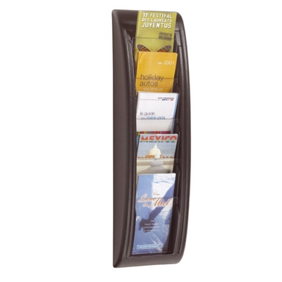 Five Compartment Wall Mount Brochure Display