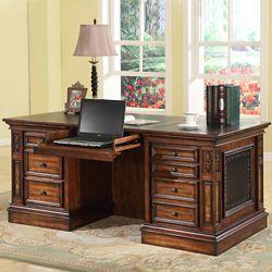 "Double Pedestal Executive Desk - 66""W"