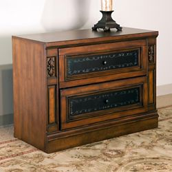 Mediterranean Style Two Drawer Lateral File