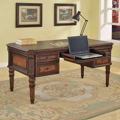 "Writing Desk with Inlaid Top - 62""W"