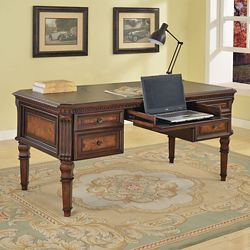 """Writing Desk with Inlaid Top - 62""""W"""