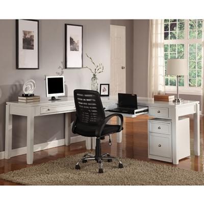 """L-Desk with File - 77""""W"""