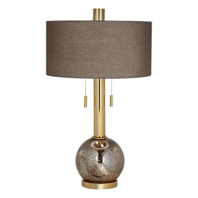 Copper Mercury Glass Table Lamp