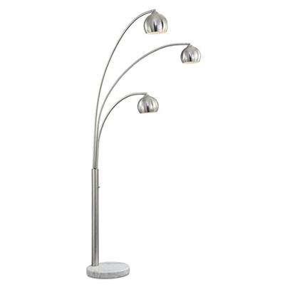 Triple Light Curved Floor Lamp