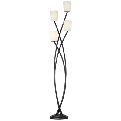 Floral Four Stem Floor Lamp