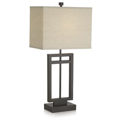 Rectangular Cutout Base Table Lamp