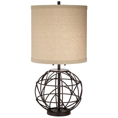 Wound Metal Table Lamp