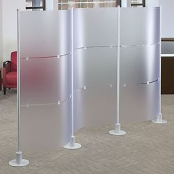 "Three Section Modular Partition - 128.375""W x 72""H"
