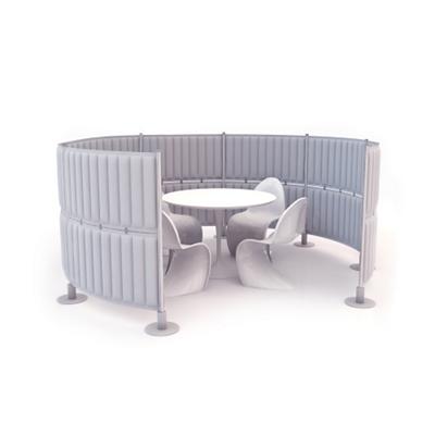 """Fourteen Panel Acoustic Divider - 49""""H"""